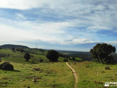 Puente de la Marmota - Parque Regional de la Cuenca Alta del Manzanares cerezos en primavera sierra
